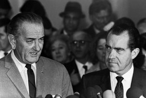Lyndon Baines Johnson and Richard Milhouse Nixon