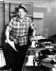 Bing Crosby with his newly delivered Ampex Model 200 tape recorders, 1948