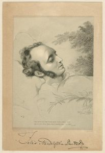 Felix Mendelssohn on his deathbed