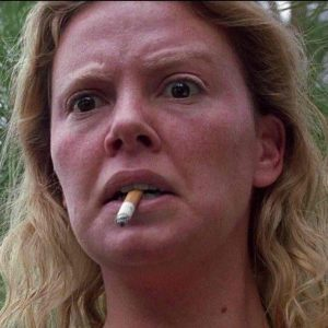Charlize Theron (born 1975) as Aileen Wuornos, 2003