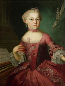 Maria Anna Mozart in 1763