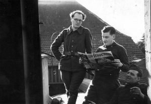 Messiaen, on the left, in the French Army, circa 1939