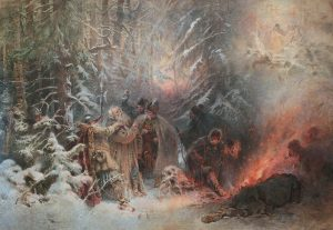 The death of Ivan Susanin, painted by Konstantin Egorovich (1914)