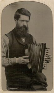Early accordion, circa 1860