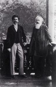 Johann Strauss Jr. and Johannes Brahms, ca. 1892
