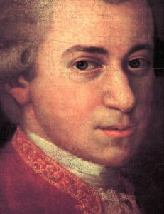 Mozart circa 1780, detail from portrait by Johann Nepomuk della Croce