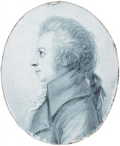 Wolfgang Mozart in 1789, drawing by Doris Stock