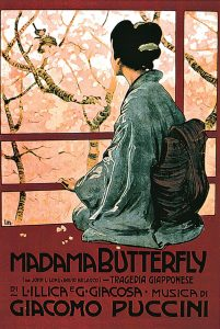 Cover of the first edition of the score of Madama Butterfly, by Leopoldo Metlicovitz