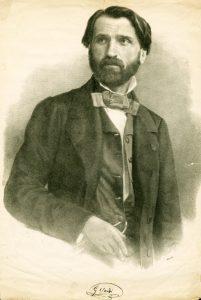 Giuseppe Verdi in 1842, age 29