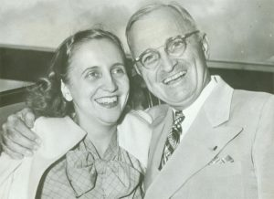 Margaret Truman and her father, President Harry S. Truman, in 1947