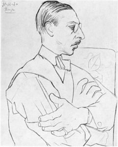 Stravinsky in 1920 by Picasso, age 38