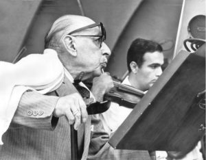 Stravinsky at the Hollywood Bowl in 1966, age 84
