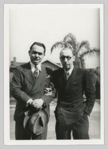Edward G. Robinson and Stravinsky in 1935