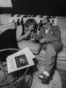 Igor and Vera Stravinsky, a very portrait of domestic bliss at home in Hollywood, as pictured in a 1959 photo spread in Life magazine