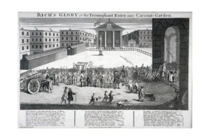 Covent Garden theater in 1732 by William Hogarth