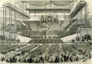 A performance at the Handel Festival at the Crystal Palace, 1857