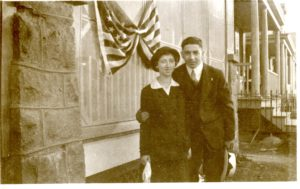 Bessie Hurwitz Greenberg and Sidney Greenberg, New York, ca. 1916, the year of their marriage