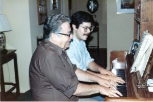 Robert Greenberg and Father playing four-hands in 1978