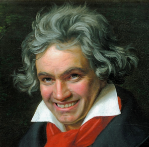 Beethoven smiling