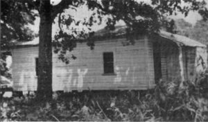 Elvis Presley's birth house in Tupelo, Mississippi, prior to its restoration, circa 1955