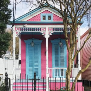 Shotgun house with Gingerbread décor, New Orleans