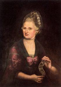 Anna Maria Pertl Mozart circa 1775