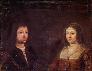Wedding portrait of Ferdinand II and Isabella I, circa 1469
