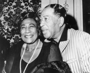 "Ella Fitzgerald and Edward Kennedy ""Duke"" Ellington in 1971"