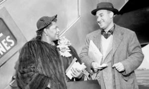 Ella Fitzgerald and Norman Granz circa 1955