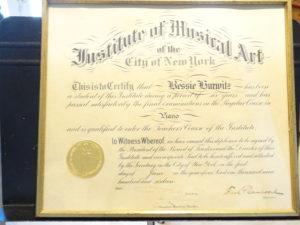 My grandmother's diploma