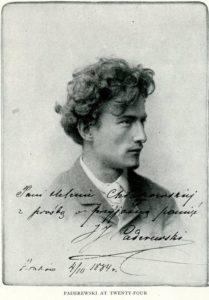 Ignacy Paderewski in 1884, age 24