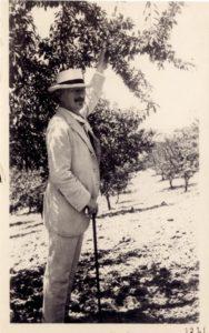 Paderewski on his estate in Paso Robles, California