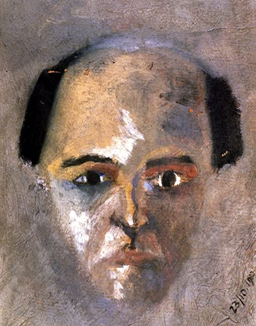 Arnold Schoenberg, untitled self-portrait, 1910