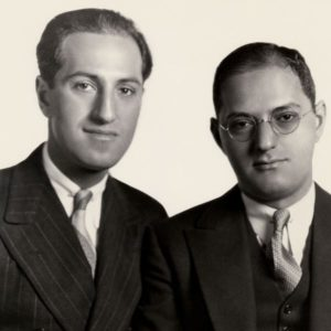 George (1898-1937) and Ira Gershwin (1896-1983), circa 1930
