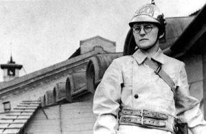 Shostakovich in his fireman's outfit