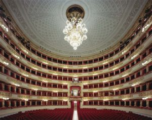 The Teatro alla Scala, looking from the stage towards the Royal Box at lower center