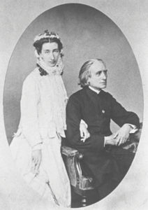Cosima Liszt von Bülow Wagner and her father Franz Liszt in 1860