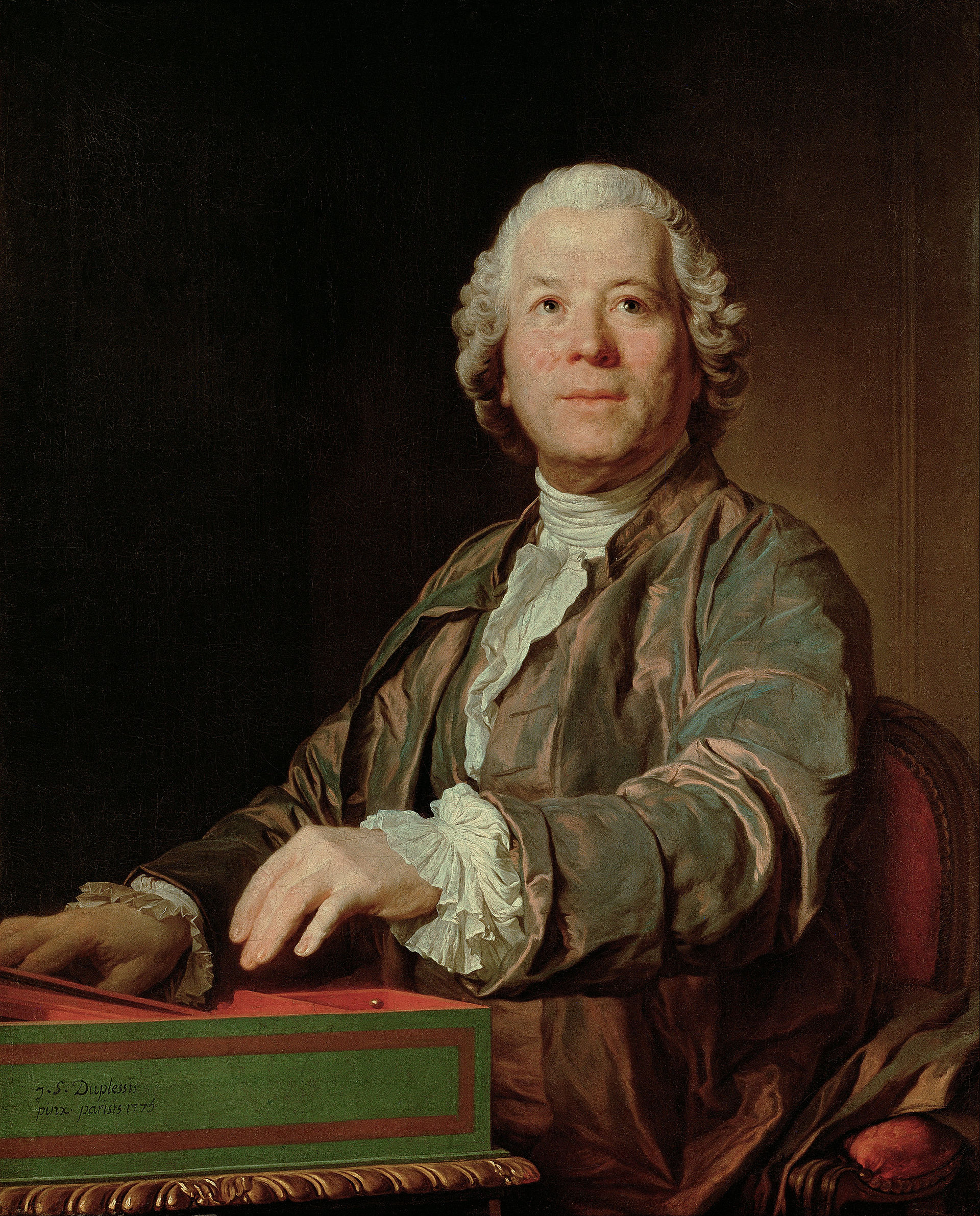 Christoph Willibald Gluck at the clavichord, painted in 1775