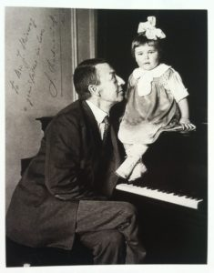 Rachmaninoff with his granddaughter Sophie in 1927
