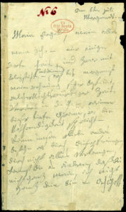 """The first page of Beethoven's so-called """"Immortal Beloved"""" letter"""