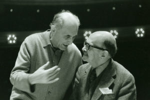 Georg Solti and Roger Sessions in 1976
