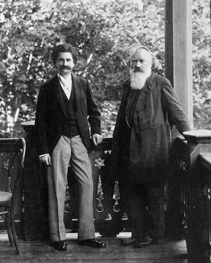 Johannes Brahms with his friend Johann Strauss Jr. in 1894