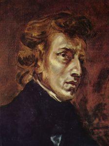 Frédéric Chopin as painted by his friend, Eugène Delacroix