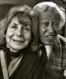 Betty Comden and Adolph Green circa 1990