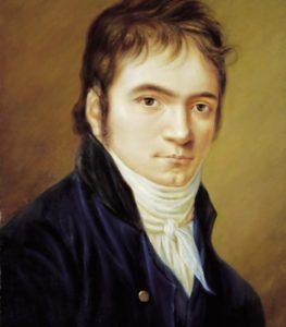 Ludwig van Beethoven in 1803, painted by Christian Horneman