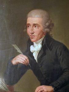 Haydn circa 1770, by Ludwig Guttenbrunn
