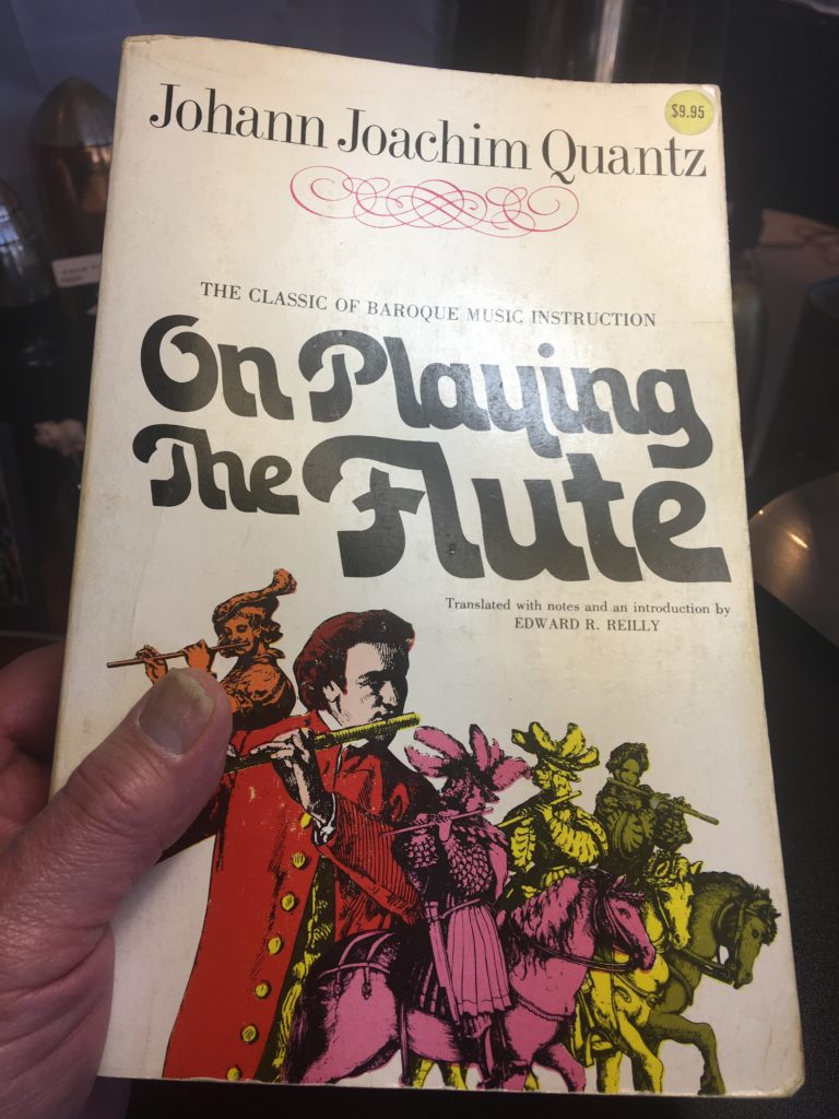 Holding my 1966 edition of Quantz's On Playing the Flute