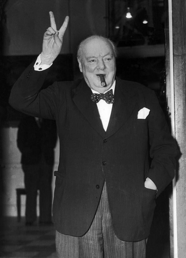 Prime Minister of the United Kingdom Winston Churchill, circa 1944
