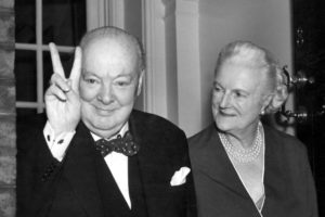 Winston Churchill (1874-1965) and his wife Clementine (1885-1977), circa 1944