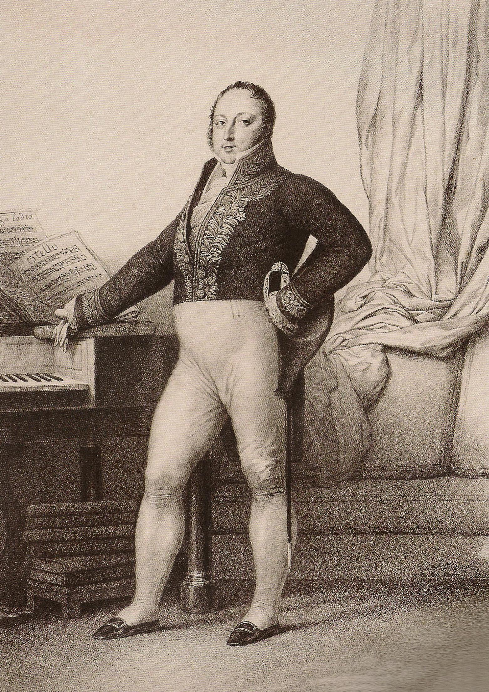 Gioachino Rossini (1792-1868) in 1829
